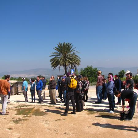 Hillel Silberklang lectures on Tzipori's archeological site