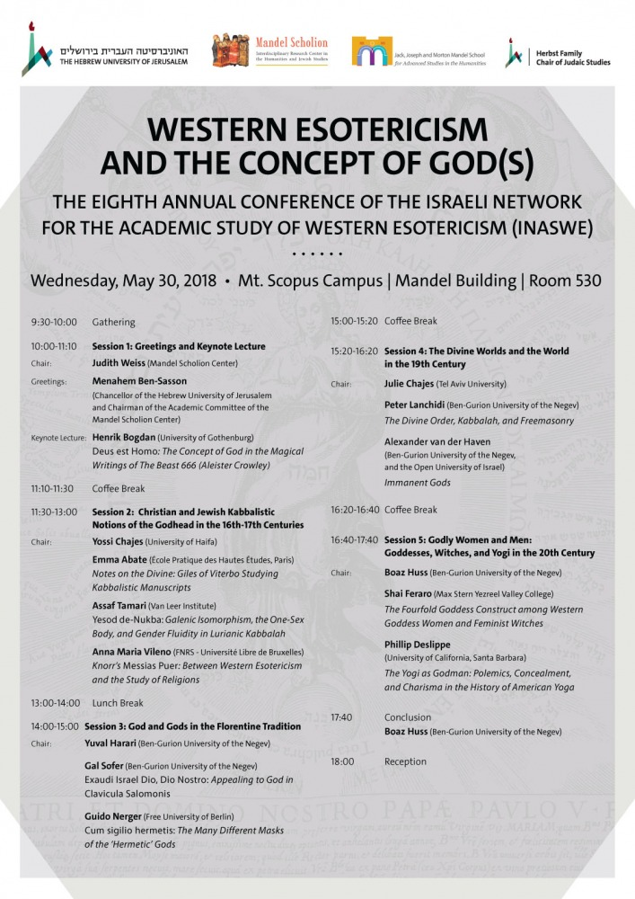 Western Esotericism and the Concept of God(s)