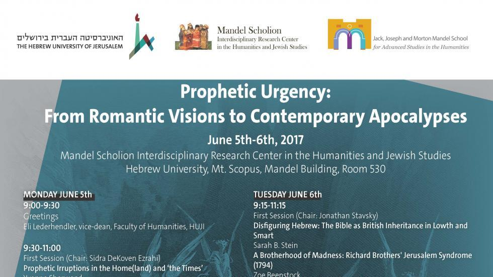 international conference: Prophetic Urgency